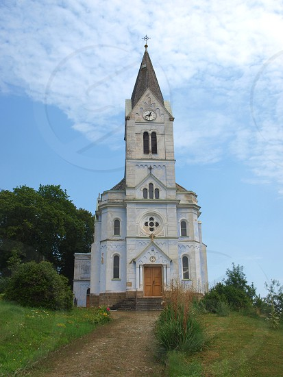 Neo-romanesque church of Saint Prokop South Moravian region village be called Stříbrnice (Silver village). photo