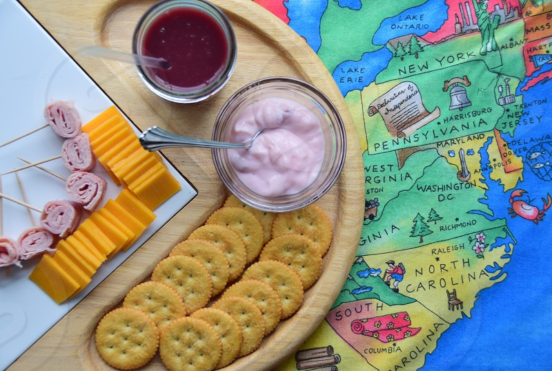 Snacking cheese board photo