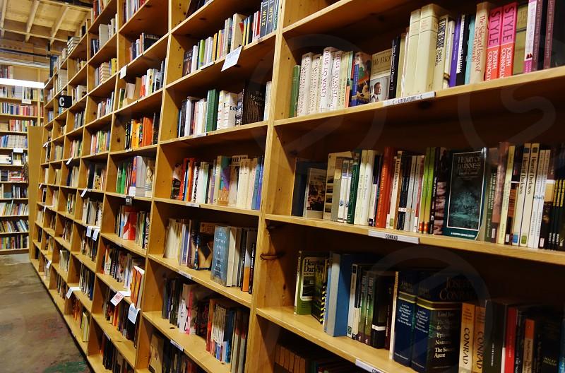 Powell's City of Books bookstore in Portland Oregon photo