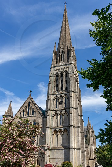 BRISTOL UK - MAY 13 : View of Christ Church in Clifton Bristol on May 13 2019 photo