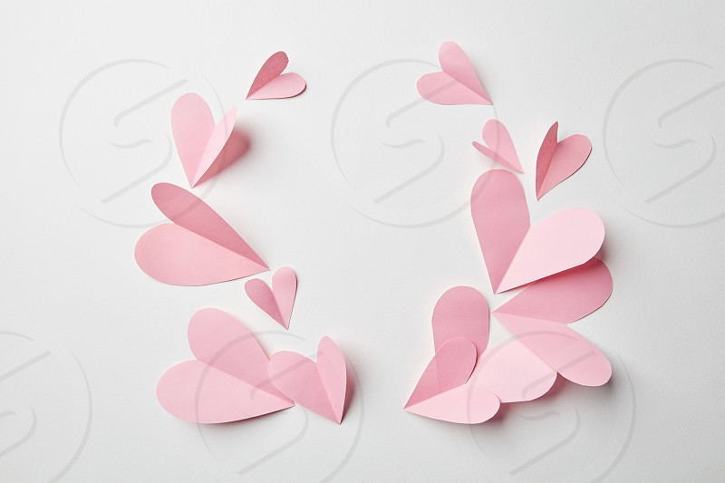 love background with hearts for Valentine's day and Wedding celebration photo
