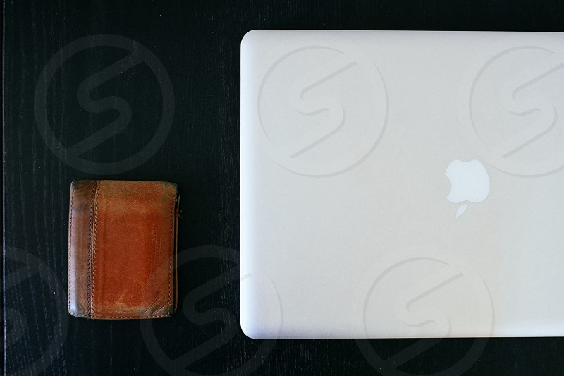 apple laptop computer white photo