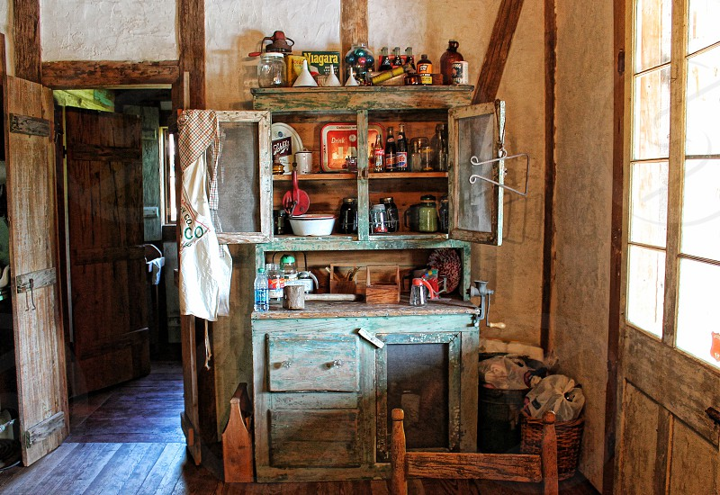 Interior view of a country rural kitchen photo