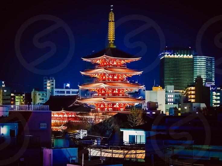 Asakusa Japan Pagoda photo