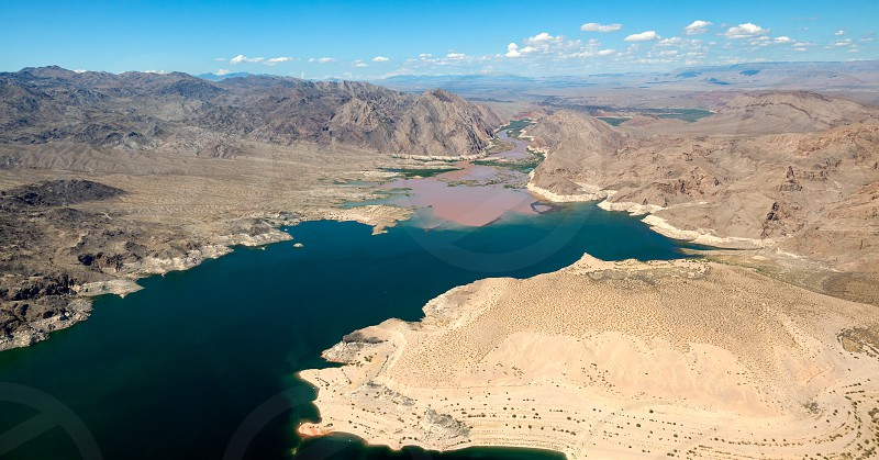 Colorado River joins Lake Mead photo