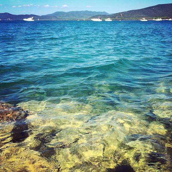 water sea italy summer sun heat holiday tusccay photo