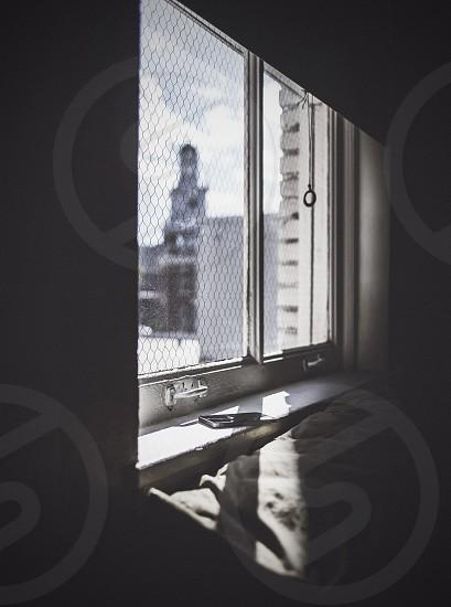 iphone in windowsill.  photo