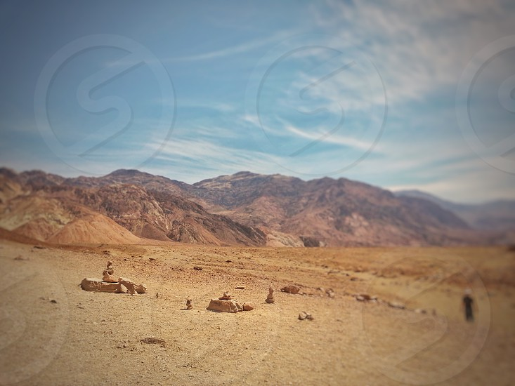 Sand rocks mountain hot photo