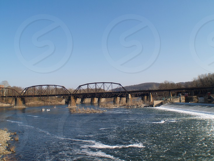 This bridge is located in Easton PA and shot on 3/7/12 and it is an active Norfolk Southern RR bridge. photo