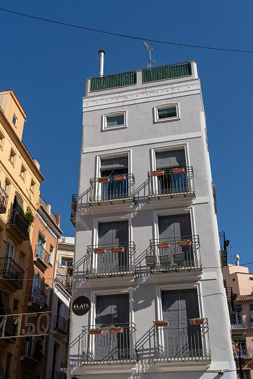 VALENCIA SPAIN - FEBRUARY 25 : Historical building in the old town Valencia Spain on February 25 2019 photo