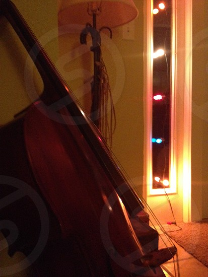 Christmas cello. Music. Instrument. photo