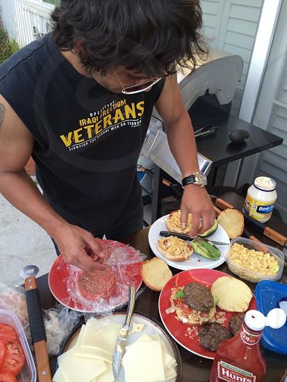 Diego's famous Columbian Burgers  photo