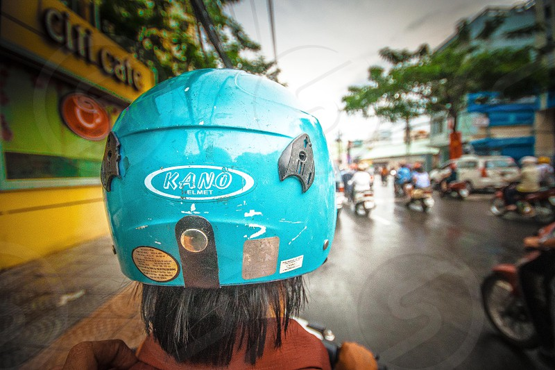 On the back of a bike traveling through Vietnam photo
