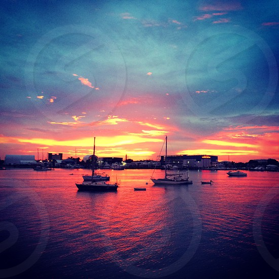 Sunset from paradise. Taken in Palm Beach Florida. 2014.  photo