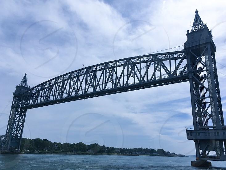 Cape Cod Canal train trestle bridge  photo