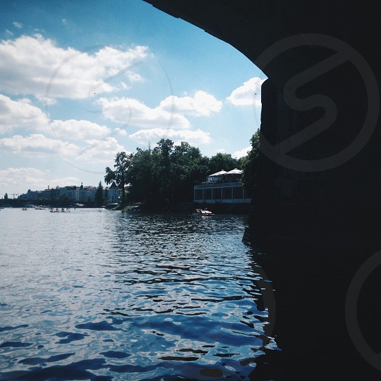 Sunny day on the Vltava river photo