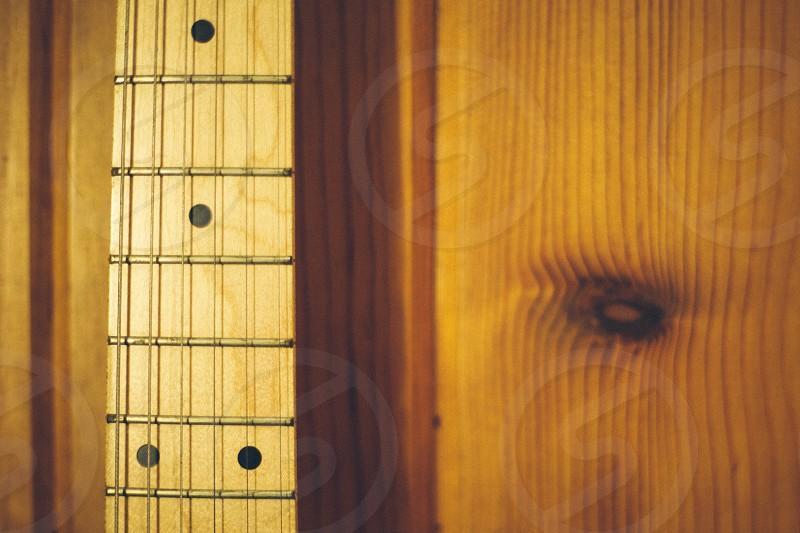 brown guitar neck photo