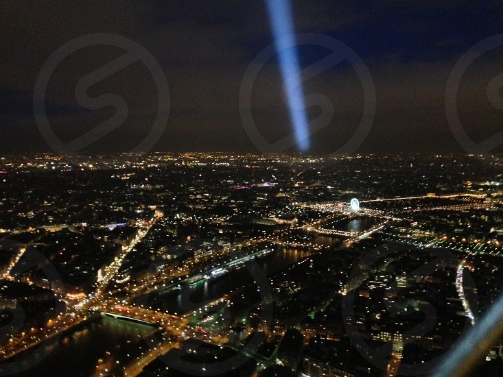 Paris from top of Eiffel Tower photo