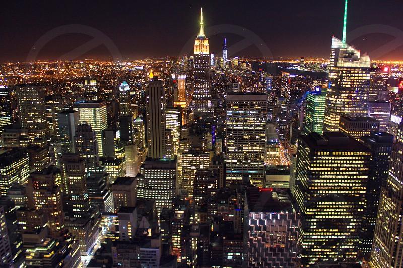 night cityscape view photo