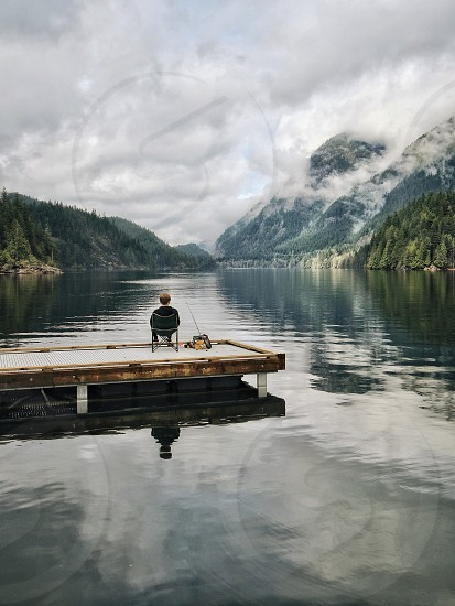 Person adventure landscape photo