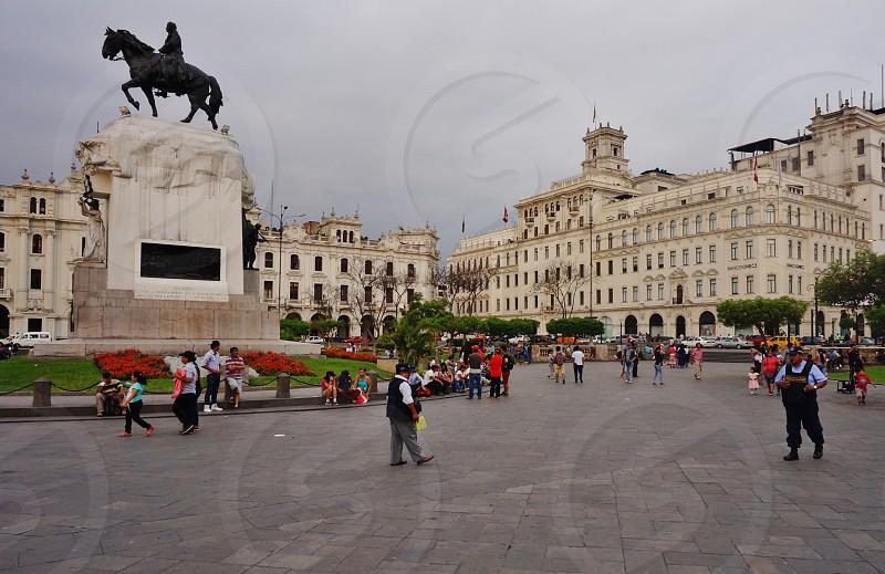 Plaza San Martin in Lima Peru photo