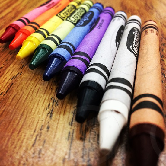 multicolored crayola drawing crayons photo