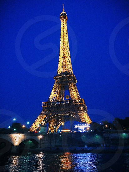 France paris night lights  photo