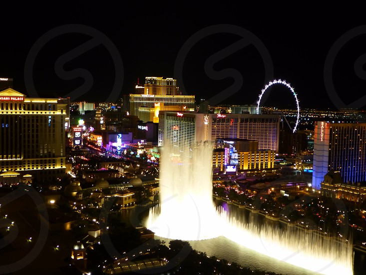 Las Vegas at night with the Big Roller in sight! photo