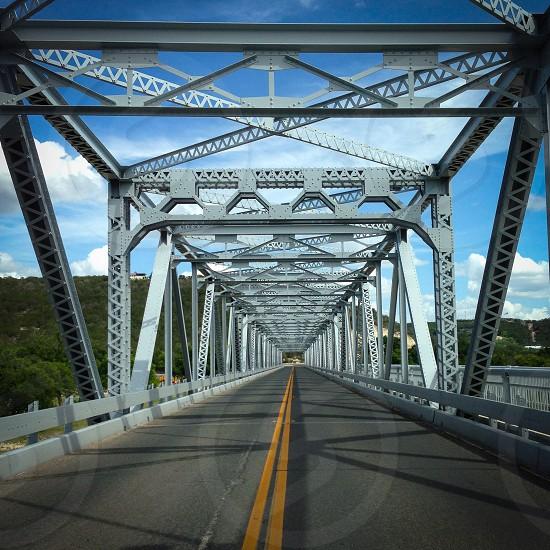 empty gray metal bridge photo