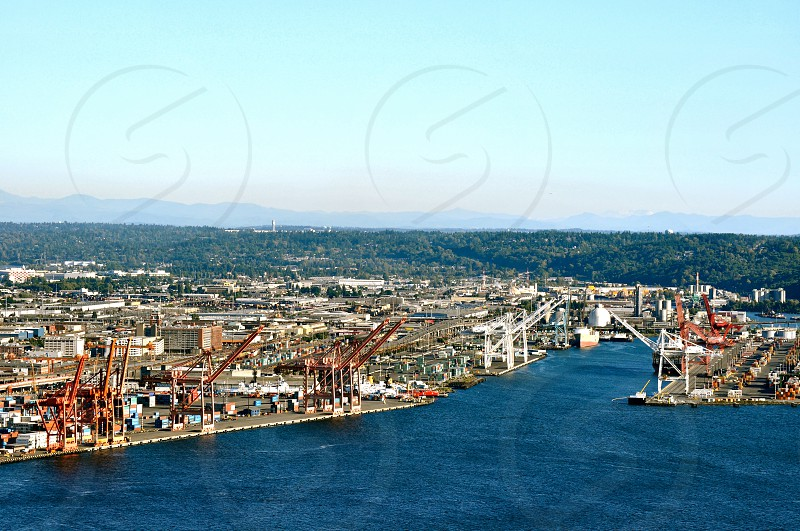 Overview of the Seattle Washington Skyline photo
