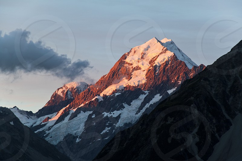 Mount Cook in the Aoraki/Mount Cook National Park New Zealand. photo