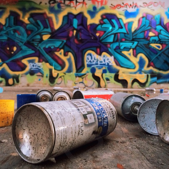 white labeled spray can photo