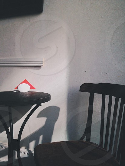 Chair table cafe. photo