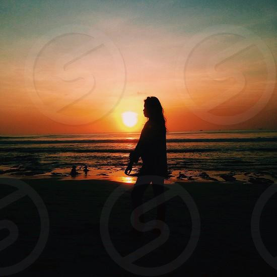 Kuta sunset photo