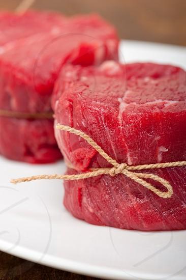 raw beef filet tenderloin photo