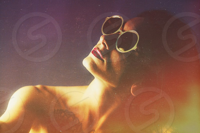Sunglasses woman portrait summer photo