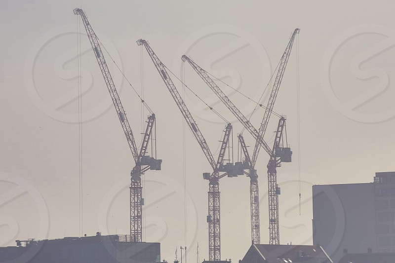 Construction site with crane located in the center of Masterdam photo