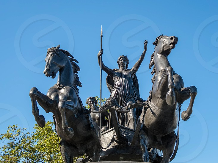 Bronze Sculpture by Thomas Thornycroft Commemorating Boudicca photo