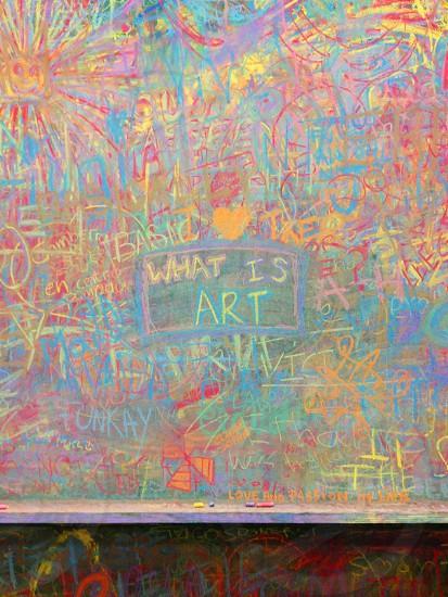 What is art? Chalk; paris; centre Pompidou  photo