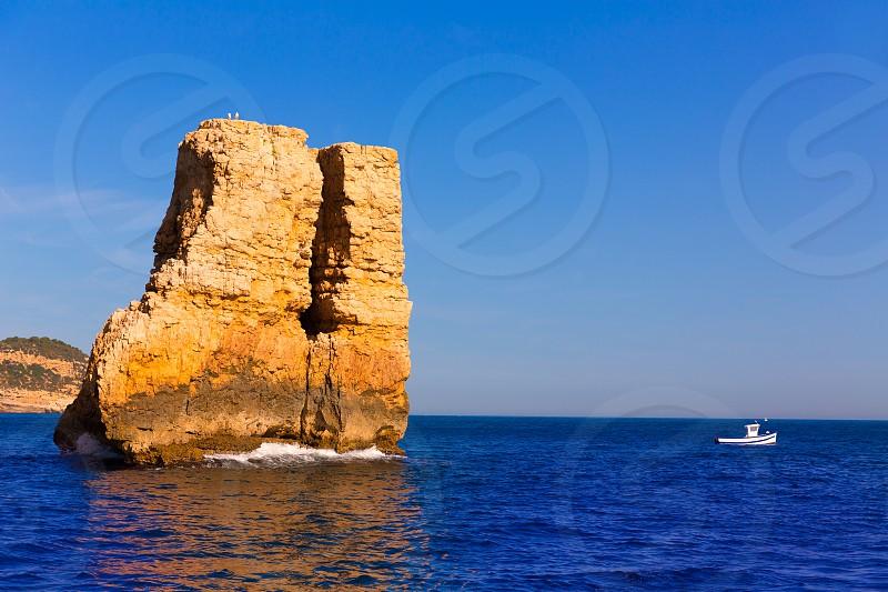 Javea Xabia Piedra la Nao in Mediterranean Alicante at Spain photo
