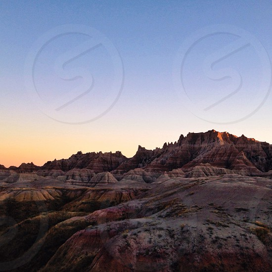Sunset in the badlands photo