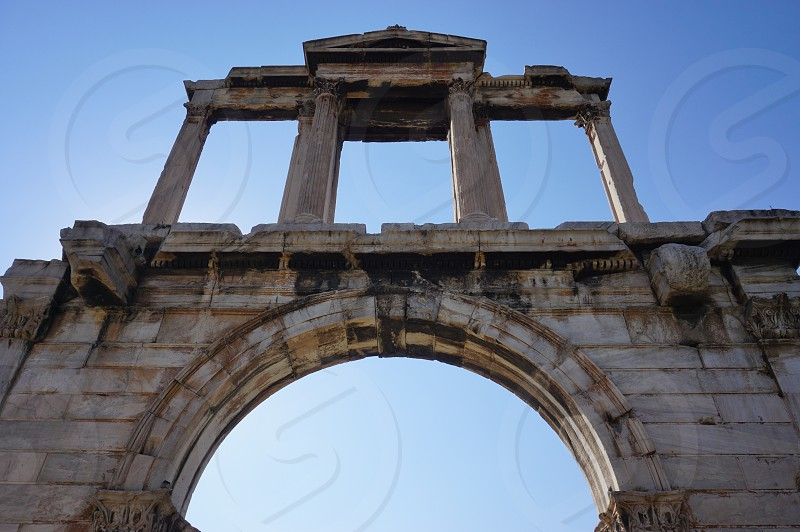 The Arch of Hadrian in Athens greece photo