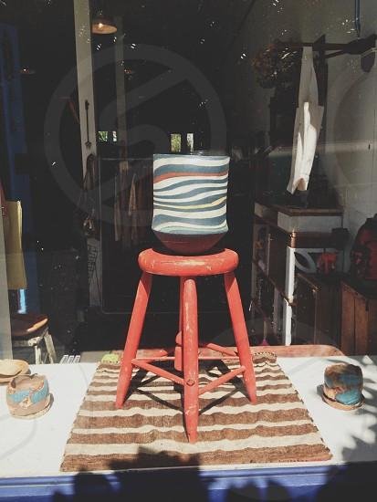 orange stool  photo