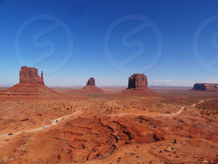 Driving in Monument Valley photo