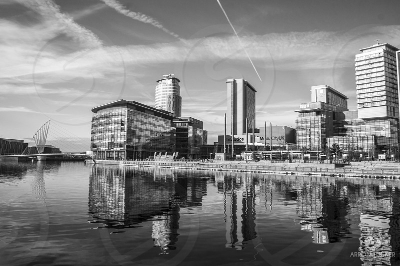 grayscale photography of city scape photo