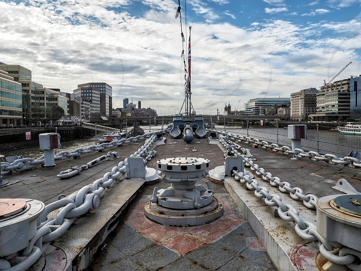 Anchor Chains on the Deck of HMS Belfast photo