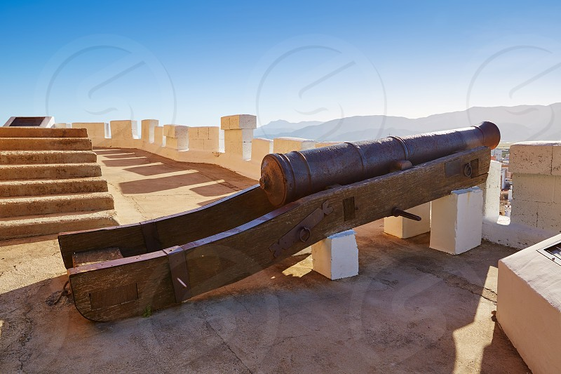 Cullera cannon in Torre de la Reina Mora tower at Valencia of Spain photo