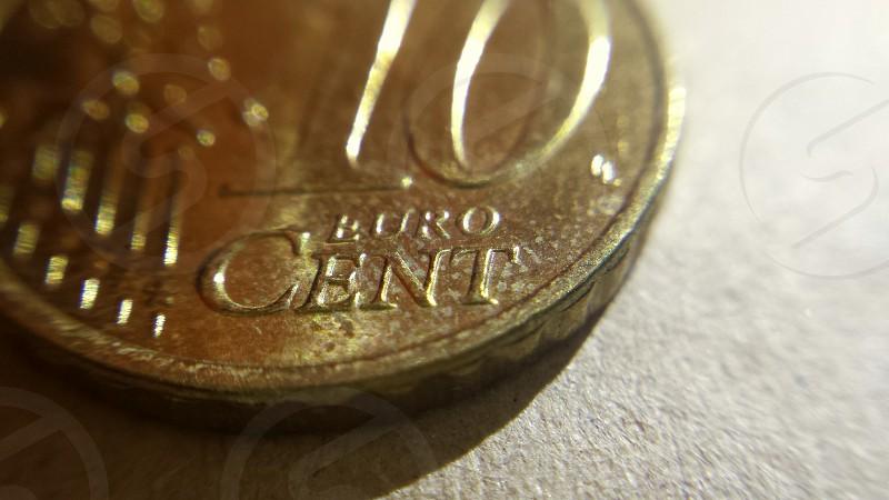 Macro shot 10c Euro coin  photo