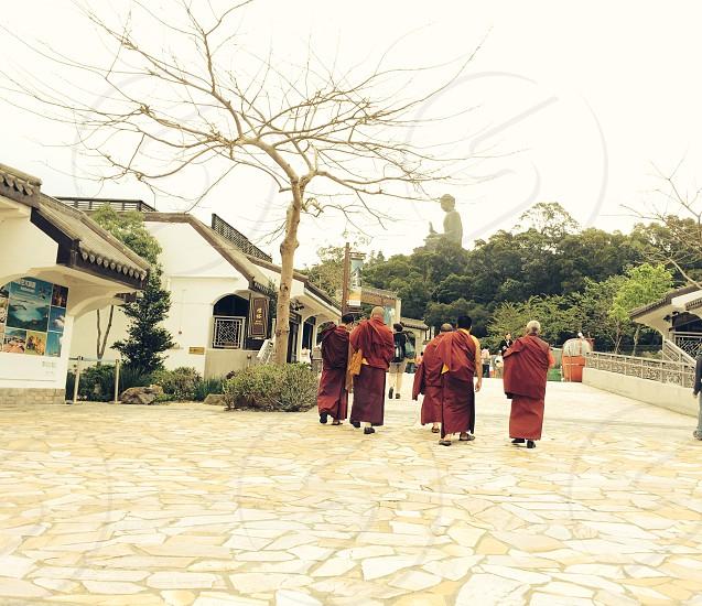 China Buddha Buddhist monks Chinese village  photo