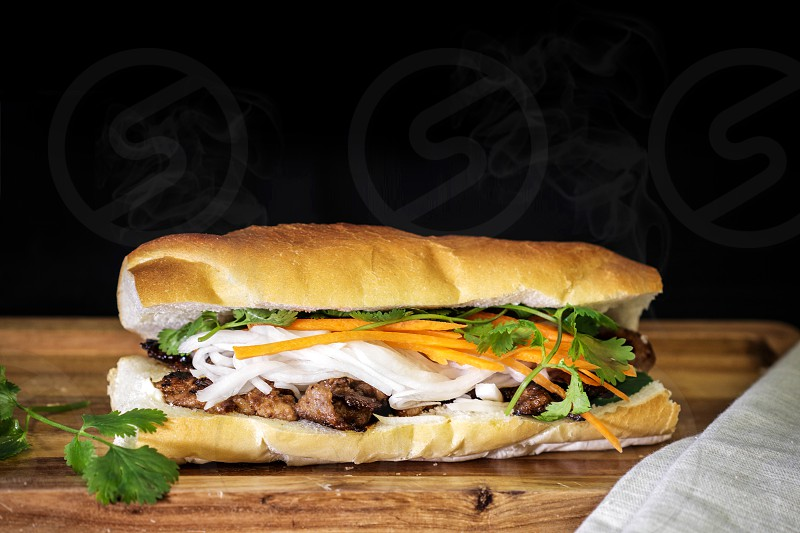 Chicken Sandwich Food Photography for asian restaurant in London Ontario Canada photo